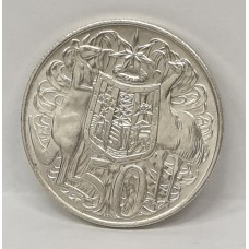 AUSTRALIA 1966 ... FIFTY CENTS COIN ... ROUND