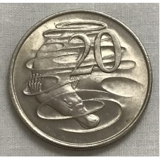 AUSTRALIA 1966 ... TWENTY CENTS COIN ... FIRST PORTRAIT ... PLATYPUS