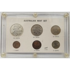 AUSTRALIA 1966 . MINT SET . UNOFFICIAL CONTAINER . UNCIRCULATED