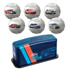 AUSTRALIA 2018 . FIFTY CENTS . 6 COIN SET . FORD MOTORSPORT . HIGH OCTANE