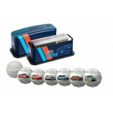 AUSTRALIA 2018 . FIFTY CENTS . 7 COIN SET . FORD MOTORSPORT . HIGH OCTANE