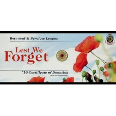AUSTRALIA 2012 . TWO DOLLAR . RSL REMEMBRANCE RED POPPY CARDS ONLY