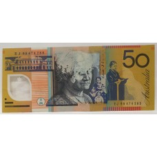 AUSTRALIA 1995 . FIFTY DOLLAR BANKNOTE . ERROR . MISSING INK . SCARCE
