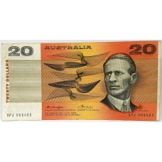 AUSTRALIA 1976 ... TWENTY DOLLAR BANKNOTE ... ERROR ... MASS INK TRANSFER