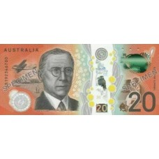 AUSTRALIA 2019 . TWENTY DOLLARS . NEXT GENERATION BANKNOTE . IN FOLDER