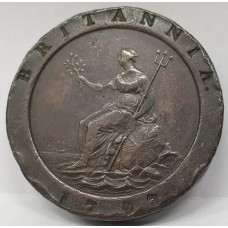 AUSTRALIA 1797 . TWO PENNY . CARTWHEEL . PROCLAMATION COIN