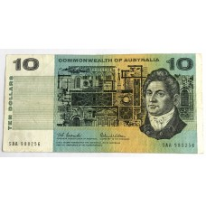 AUSTRALIA 1966 . TEN DOLLARS BANKNOTE . FIRST PREFIX