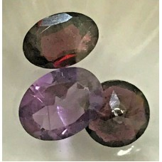 3x AMETHYST GEMSTONES . READY CUT . EMERALD 1.5CRT
