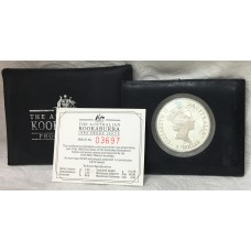 AUSTRALIA 1992 . ONE OUNCE . KOOKABURRA PROOF COIN