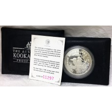 AUSTRALIA 1993 . ONE OUNCE KOOKABURRA PROOF COIN