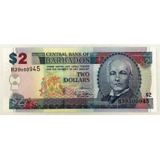 BARBADOS 2007 . TWO DOLLARS BANKNOTE