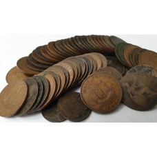 GREAT BRITAIN 1800's and 1900's . HALF PENNY'S COINS . MIXED GRADES