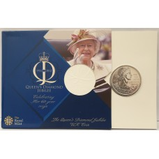 GREAT BRITAIN 1952 - 2012 . FIVE POUNDS MILLENNIUM COIN . QUEEN'S DIAMOND JUBILEE