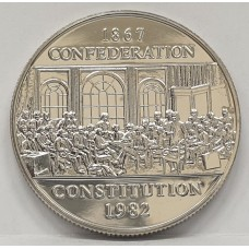 CANADA 1982 . ONE DOLLAR . PROOF COIN . CONSTITUTION