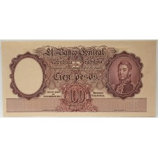 ARGENTINA 1935 . ONE HUNDRED PESOS . SPECIMEN BANKNOTE . UNCIRCULATED