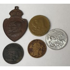 GREAT BRITAIN . RARE AND SCARCE . TOKENS, BADGE AND COINS